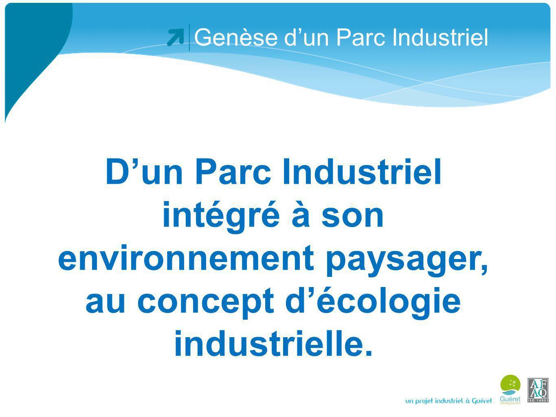 Genèse dun Parc Industriel De plus le 21 janvier 2010, signature dune convention de partenariat entre la CCI de la Creuse et la CC Guéret pour unir leurs efforts dans le domaine de la sensibilisation des entreprises aux démarches de Développement Durable et notamment du dispositif 1,2,3 Environnement.