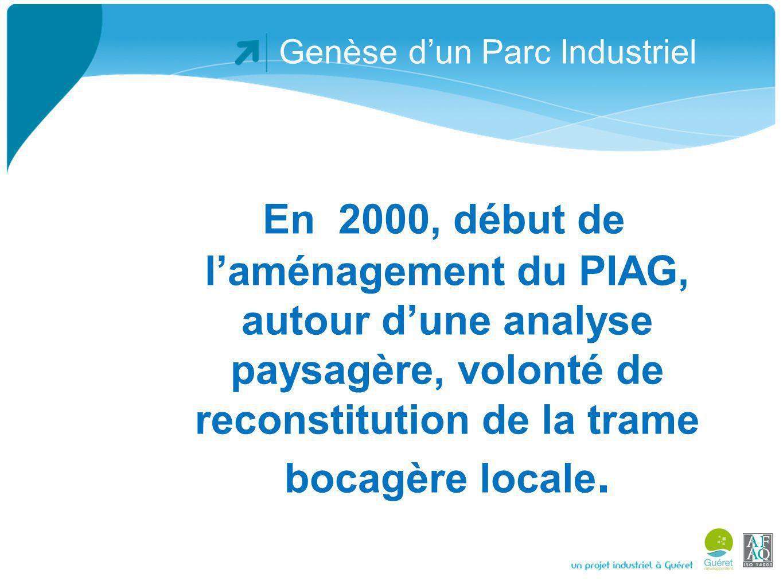 Genèse dun Parc Industriel Courant 2010, dans le cadre de létude de linstallation du projet Abiodis sur le PIAG, la CC Guéret décide dapprofondir, et de mettre en œuvre sur son territoire une démarche décologie industrielle.