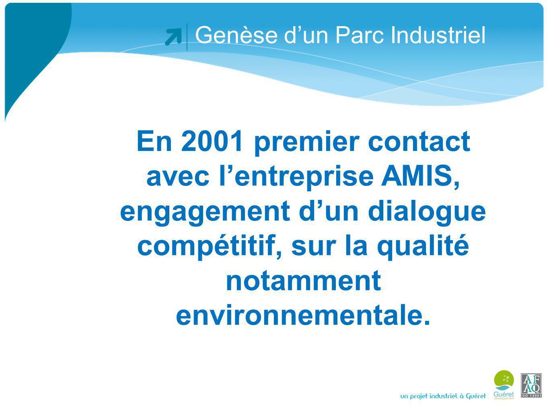 Genèse dun Parc Industriel Au travers dun dialogue territorial (avec AMIS) exigeant et efficace, la Com Com de Guéret a mis en place plusieurs équipements performants dans le domaine de la prise en compte de lenvironnement.
