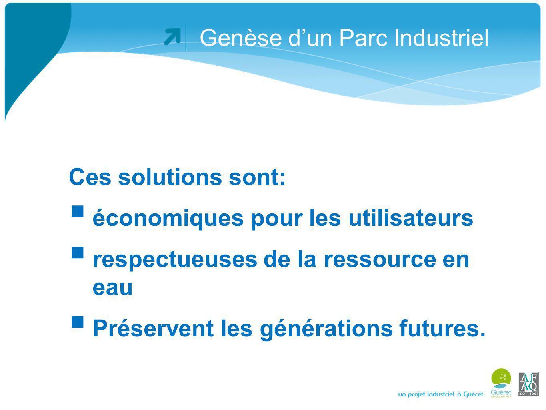 Genèse dun Parc Industriel Sur la base réussie de linstallation dAMIS, la CC Guéret sengage dans la mise en œuvre dun Système de Management Environnemental (SME), avec obtention de la certification ISO 14001 en 2007, renouvelée très récemment.