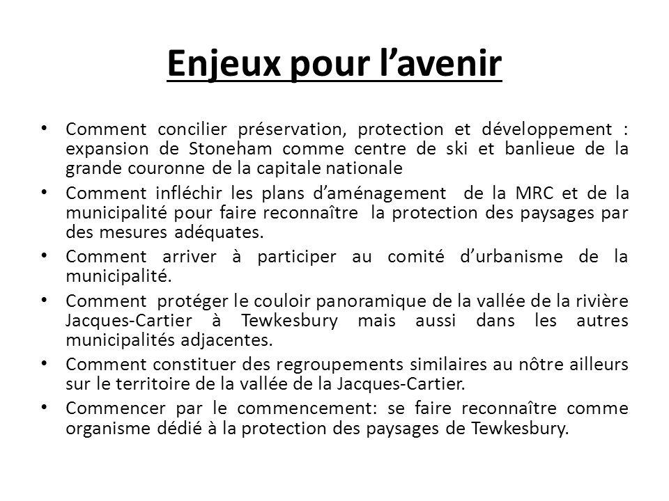 Les mesures souhaitées (1) Que la volonté politique du gouvernement du Québec de se doter dune nouvelle loi sur le patrimoine culturel incluant le paysage se concrétise rapidement.
