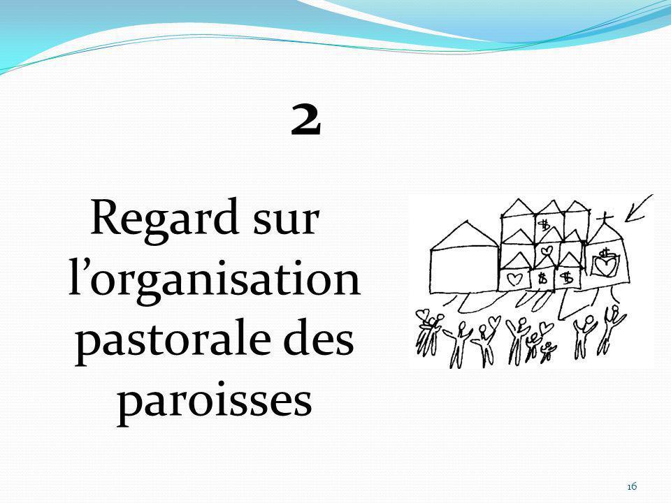 Regard sur lorganisation pastorale des paroisses 16 2