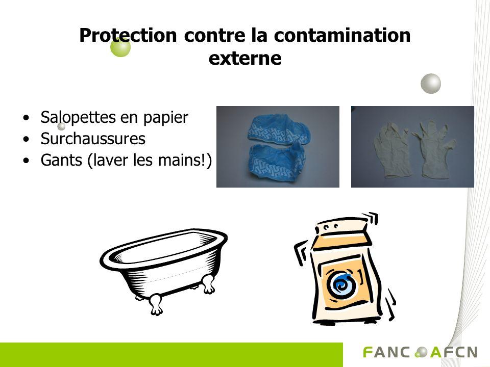 Protection contre la contamination externe Salopettes en papier Surchaussures Gants (laver les mains!)