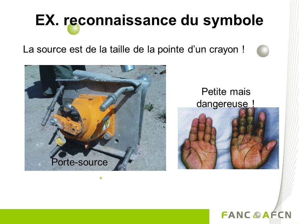 EX. reconnaissance du symbole La source est de la taille de la pointe dun crayon ! Petite mais dangereuse ! Porte-source