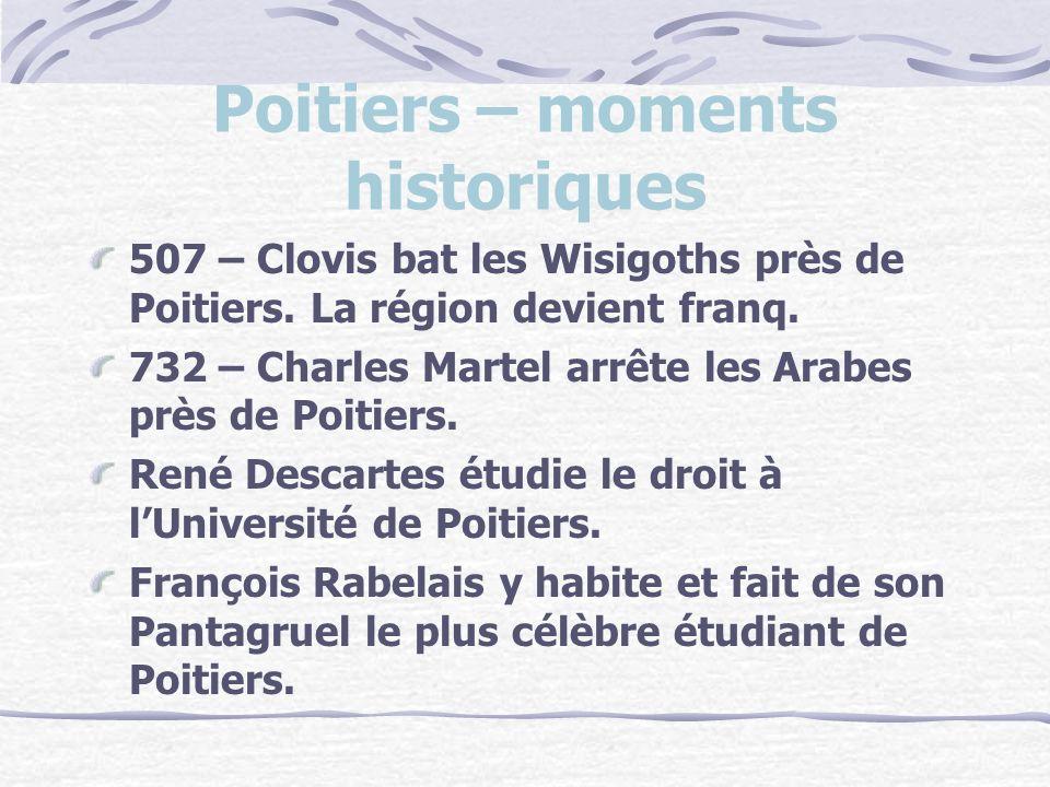 Poitiers – moments historiques 507 – Clovis bat les Wisigoths près de Poitiers.
