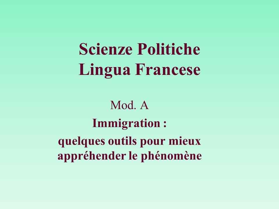Scienze Politiche Lingua Francese Mod.