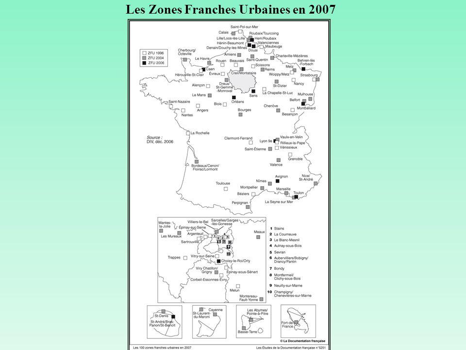 Les Zones Franches Urbaines en 2007