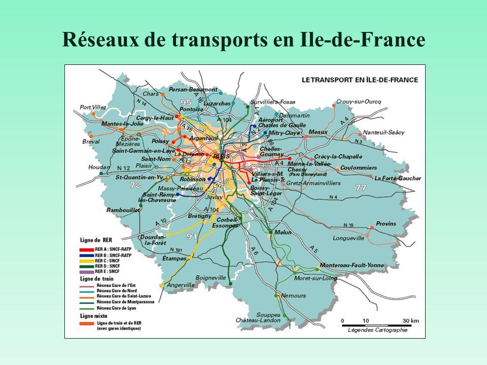 Réseaux de transports en Ile-de-France