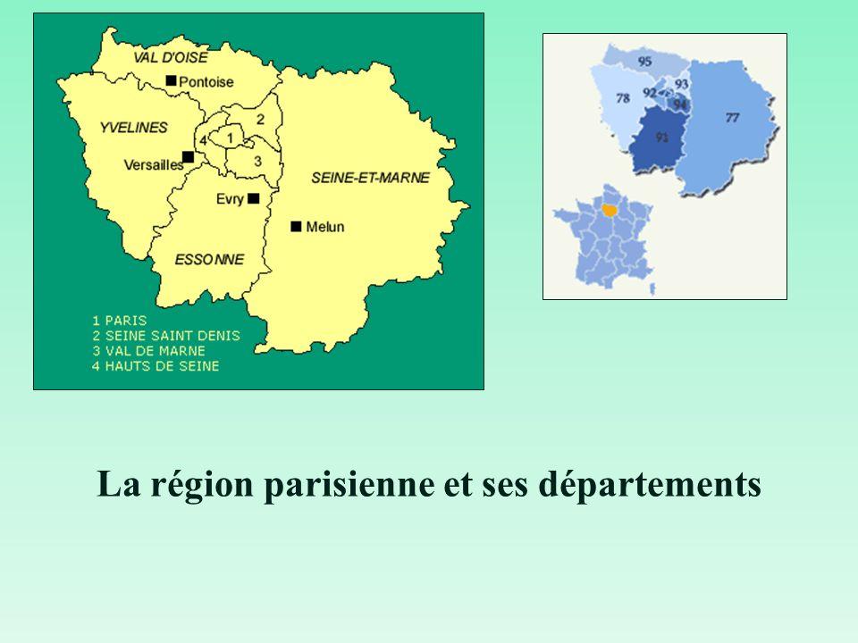 La région parisienne et ses départements