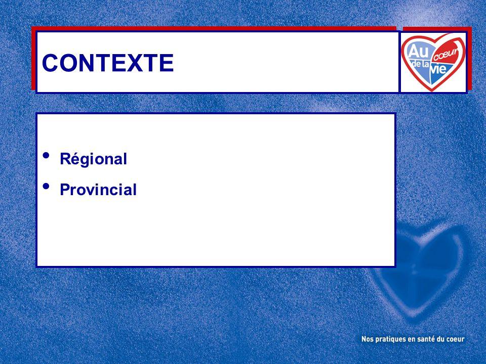 CONTEXTE Régional Provincial