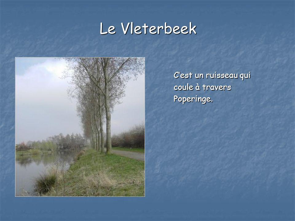 Le Vleterbeek Cest un ruisseau qui coule à travers Poperinge.