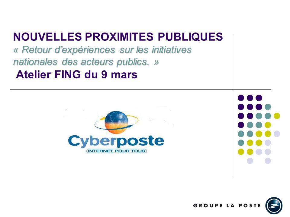 Cyberposte Lorigine: Une offre daccès à Internet payante (carte privative), accessible via des micro-ordinateurs apple, déployée au sein de 1000 bureaux de Poste, animée par 1000 emplois jeunes.