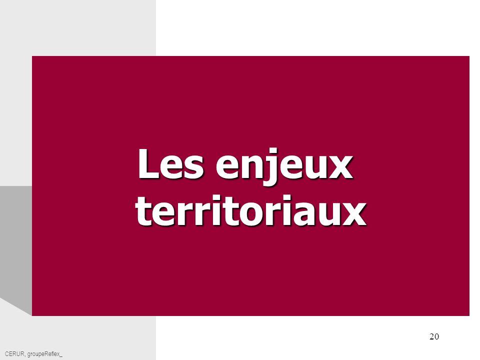 Cerur,groupeReflex_20 Titre CERUR, groupeReflex_ Les enjeux territoriaux