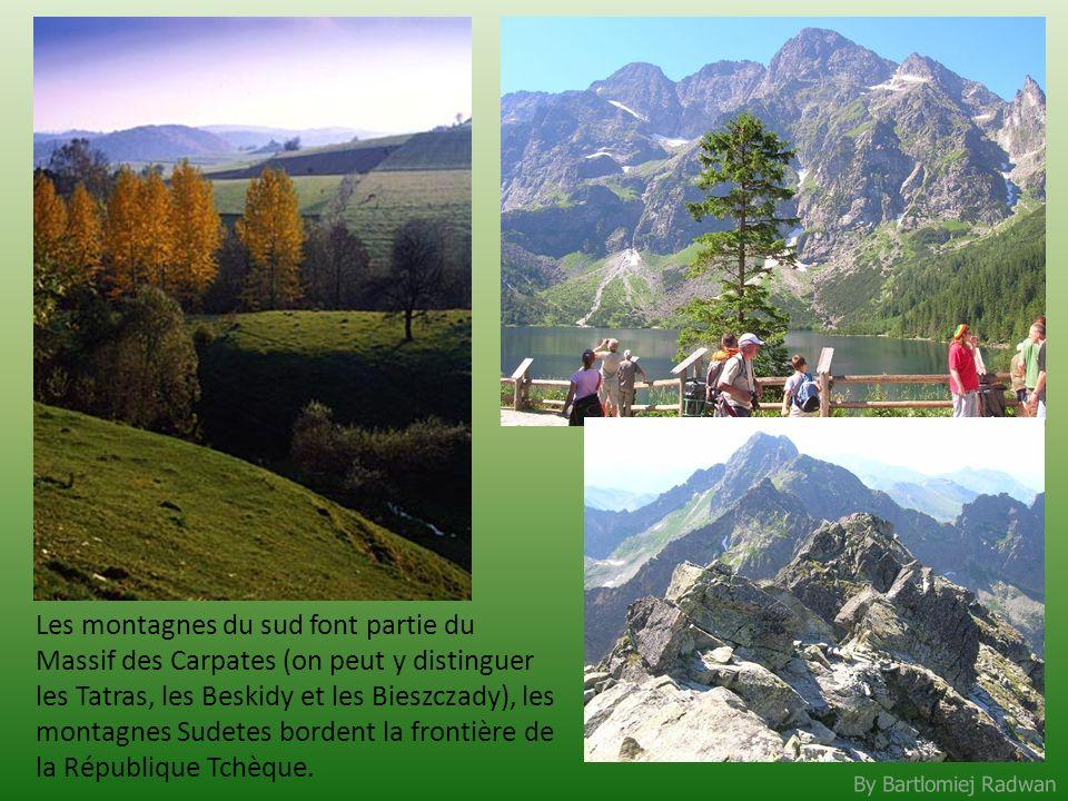 By Bartlomiej Radwan Les montagnes du sud font partie du Massif des Carpates (on peut y distinguer les Tatras, les Beskidy et les Bieszczady), les mon