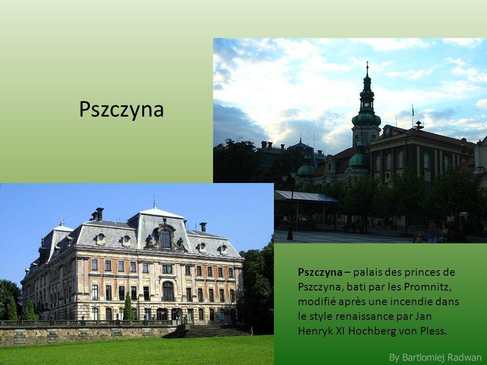 By Bartlomiej Radwan Pszczyna Pszczyna – palais des princes de Pszczyna, bati par les Promnitz, modifié après une incendie dans le style renaissance p