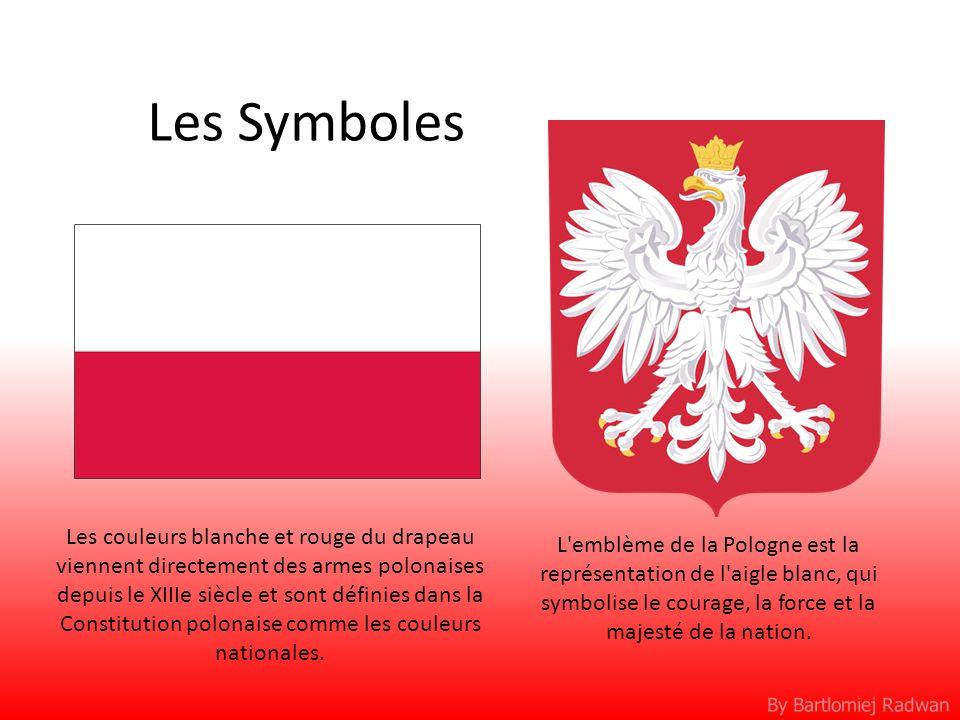By Bartlomiej Radwan Les Symboles L'emblème de la Pologne est la représentation de l'aigle blanc, qui symbolise le courage, la force et la majesté de