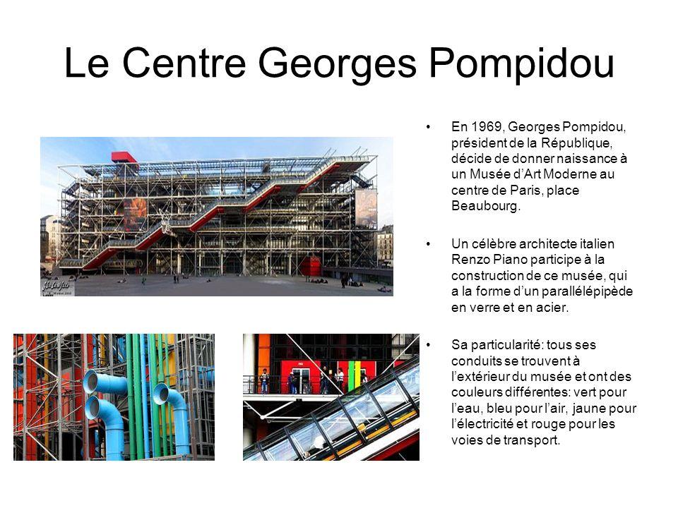Le Centre Georges Pompidou En 1969, Georges Pompidou, président de la République, décide de donner naissance à un Musée dArt Moderne au centre de Pari