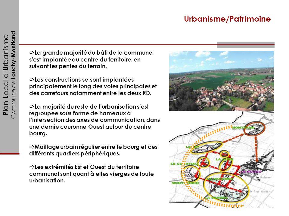 P lan L ocal d U rbanisme Commune de Louchy-Montfand Urbanisme/Patrimoine La grande majorité du bâti de la commune sest implantée au centre du territo