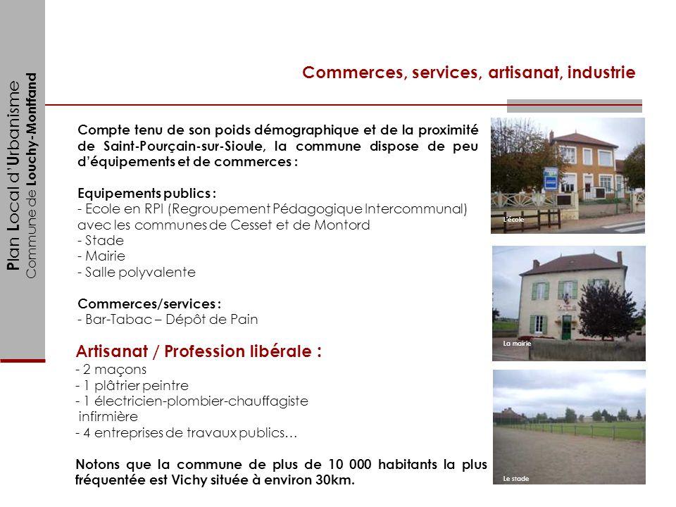 P lan L ocal d U rbanisme Commune de Louchy-Montfand Commerces, services, artisanat, industrie Compte tenu de son poids démographique et de la proximi