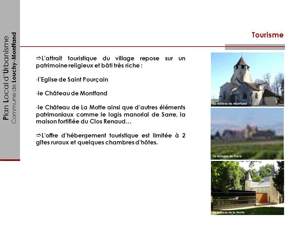P lan L ocal d U rbanisme Commune de Louchy-Montfand Tourisme Lattrait touristique du village repose sur un patrimoine religieux et bâti très riche :