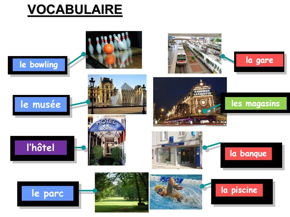 Starter – Brainstorming Make a graphic of all the places you can think of in a town: en français! dimanche 4 mai 2014 En ville Le cinéma La banque Ecr
