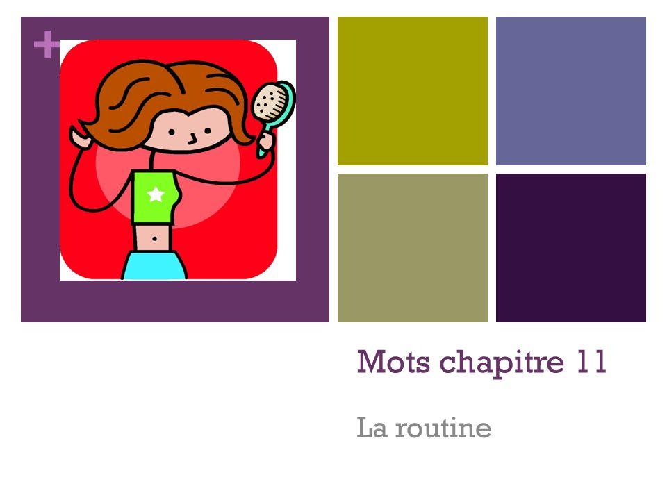 + Mots chapitre 11 La routine