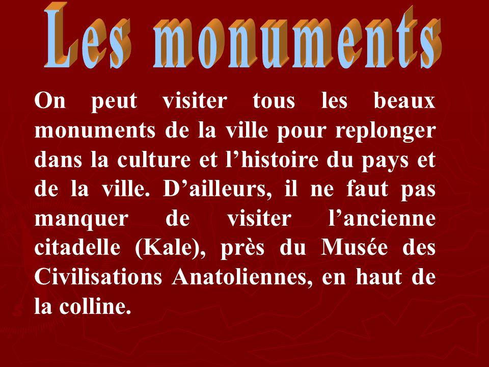 On peut visiter tous les beaux monuments de la ville pour replonger dans la culture et lhistoire du pays et de la ville. Dailleurs, il ne faut pas man