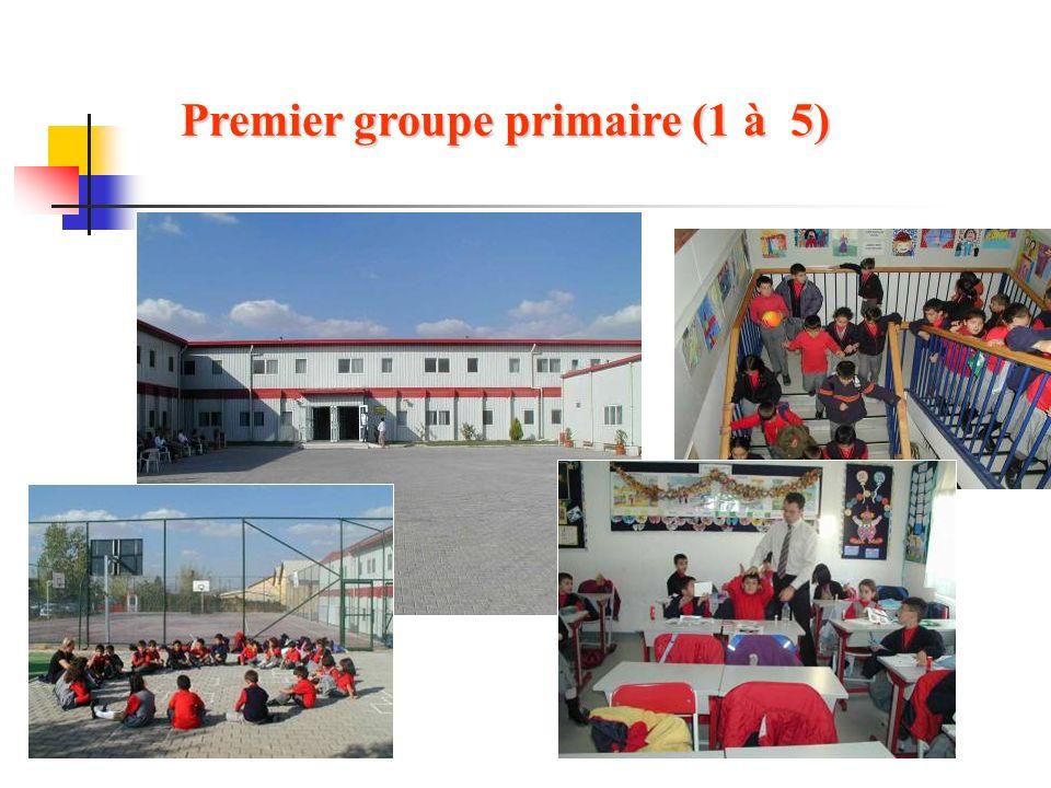 Premier groupe primaire (1 à 5)