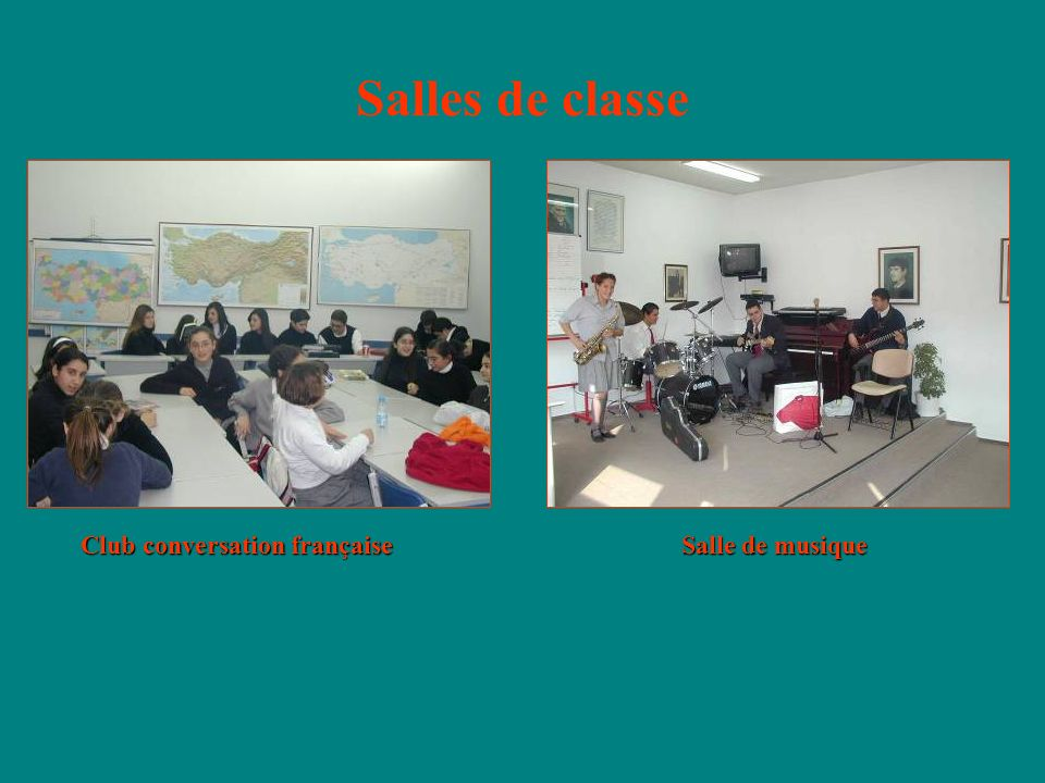 Salles de classe Club conversation française Salle de musique