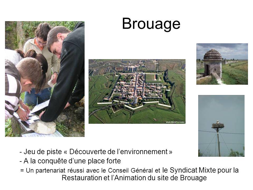 Brouage - Jeu de piste « Découverte de lenvironnement » - A la conquête dune place forte = Un partenariat réussi avec le Conseil Général et le Syndica
