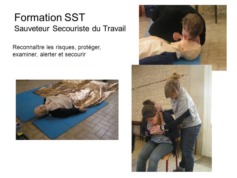 Formation SST Sauveteur Secouriste du Travail Reconnaître les risques, protéger, examiner, alerter et secourir