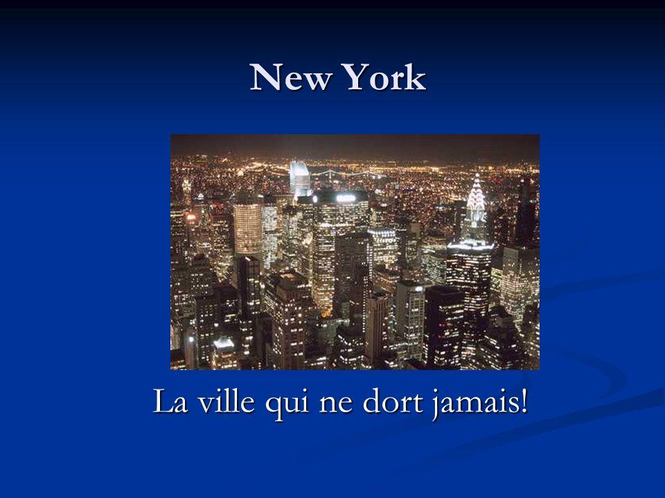 New York La ville qui ne dort jamais!