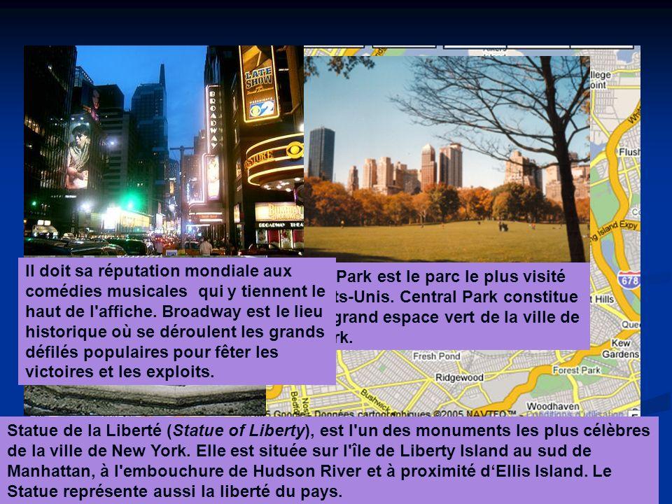 Statue de la Liberté (Statue of Liberty), est l un des monuments les plus célèbres de la ville de New York.