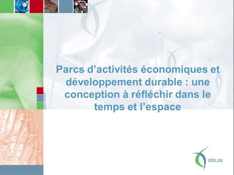 Parcs dactivités économiques et développement durable : une conception à réfléchir dans le temps et lespace