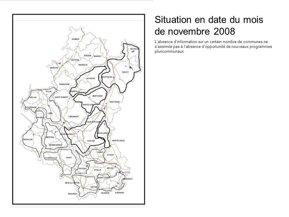 Situation en date du mois de novembre 2008 L'absence d'information sur un certain nombre de communes ne s'assimile pas à l'absence d'opportunité de no