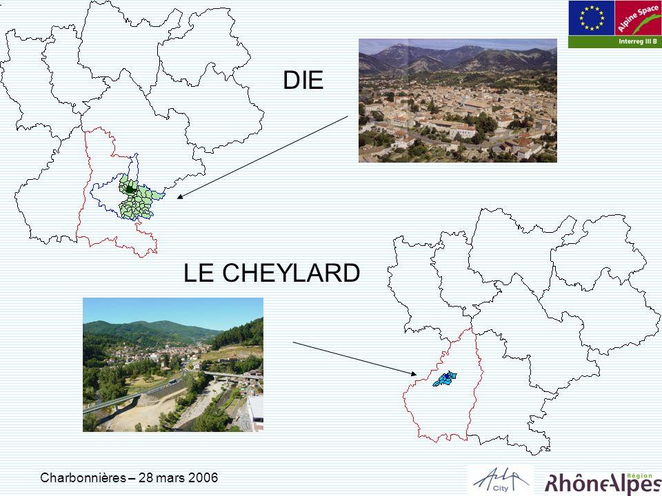 Charbonnières – 28 mars 2006 DIE LE CHEYLARD