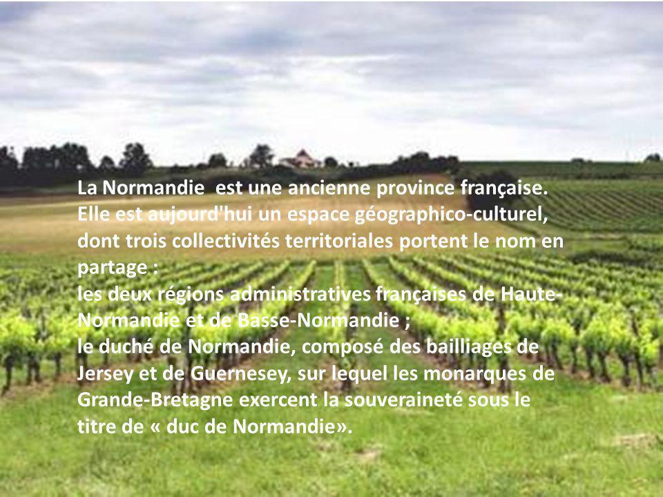 La Normandie est une ancienne province française. Elle est aujourd'hui un espace géographico-culturel, dont trois collectivités territoriales portent