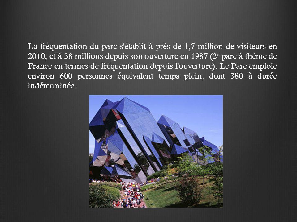 La fréquentation du parc s établit à près de 1,7 million de visiteurs en 2010, et à 38 millions depuis son ouverture en 1987 (2 e parc à thème de France en termes de fréquentation depuis l ouverture).