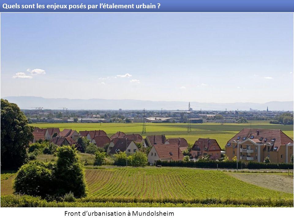 Quels sont les enjeux posés par létalement urbain ? Front durbanisation à Mundolsheim