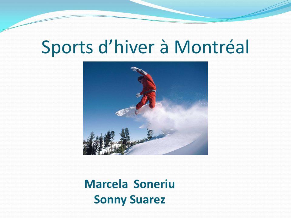 Sports dhiver à Montréal Marcela Soneriu Sonny Suarez