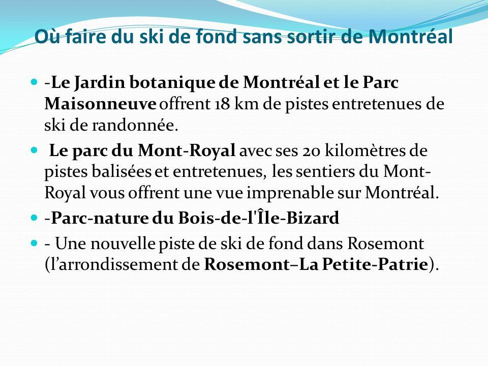 Où faire du ski de fond sans sortir de Montréal -Le Jardin botanique de Montréal et le Parc Maisonneuve offrent 18 km de pistes entretenues de ski de