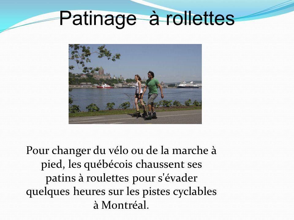 Pour changer du vélo ou de la marche à pied, les québécois chaussent ses patins à roulettes pour s'évader quelques heures sur les pistes cyclables à M