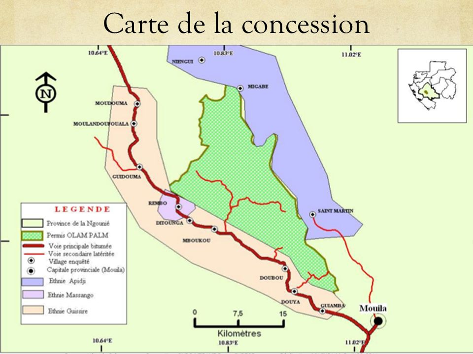 Carte de la concession