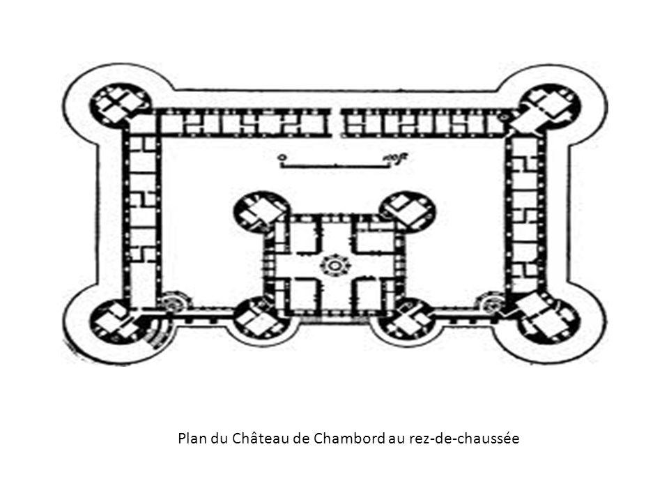 Plan du Château de Chambord au rez-de-chaussée