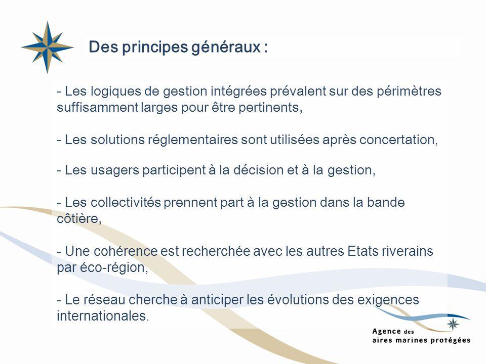 - Les logiques de gestion intégrées prévalent sur des périmètres suffisamment larges pour être pertinents, - Les solutions réglementaires sont utilisé