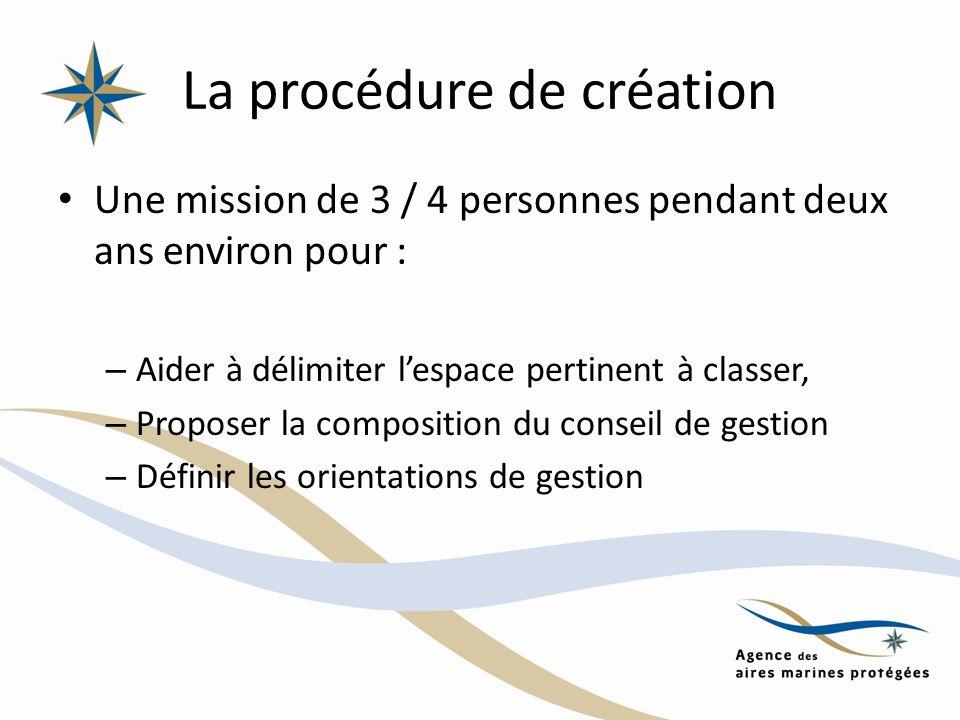 La procédure de création Une mission de 3 / 4 personnes pendant deux ans environ pour : – Aider à délimiter lespace pertinent à classer, – Proposer la