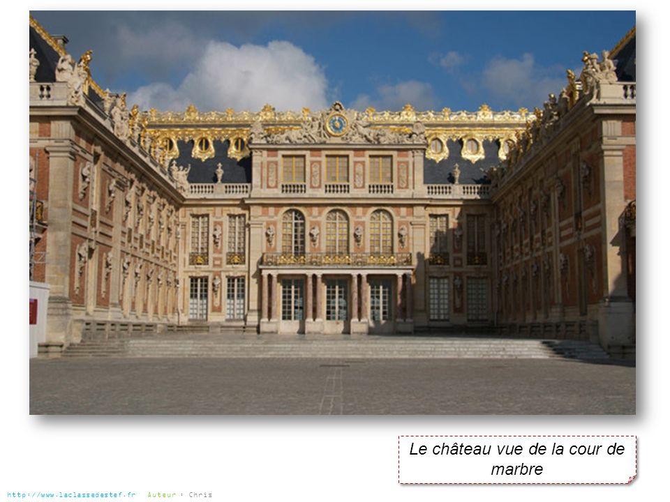 Le château vue de la cour de marbre http://www.laclassedestef.fr Auteur : Chris