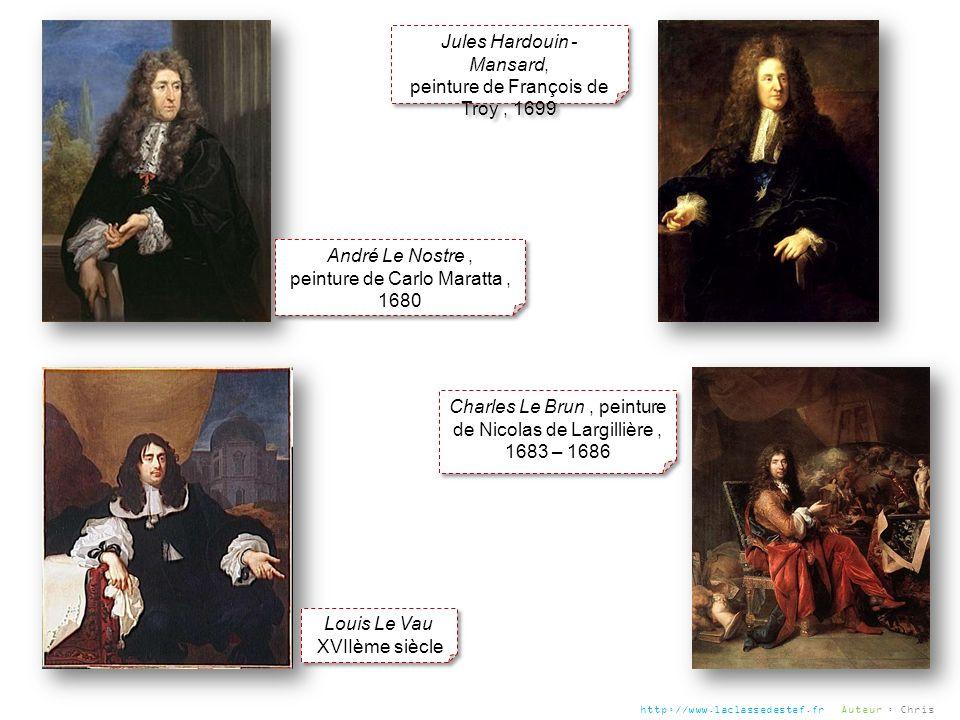André Le Nostre, peinture de Carlo Maratta, 1680 André Le Nostre, peinture de Carlo Maratta, 1680 Jules Hardouin - Mansard, peinture de François de Tr