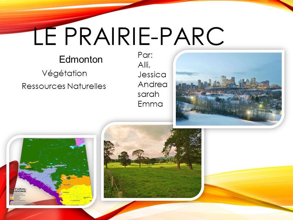 LE PRAIRIE-PARC Végétation Ressources Naturelles Edmonton Par: Alli, Jessica Andrea sarah Emma