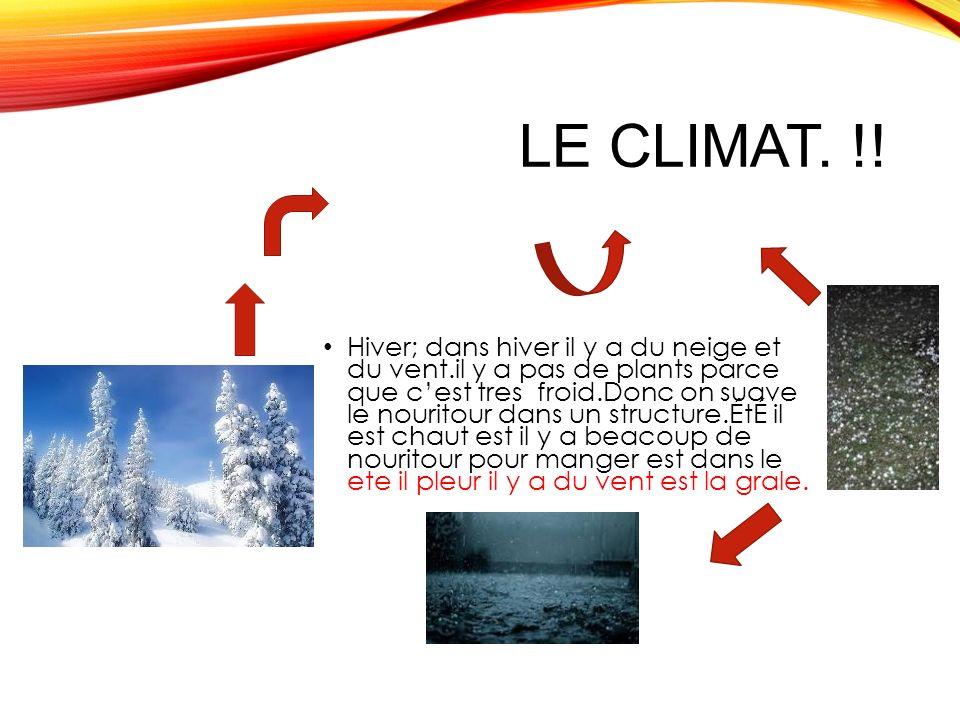 LE CLIMAT.!.